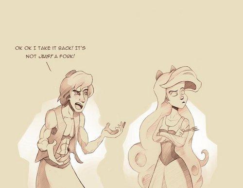 Just a fork - Aladdin & Ariel