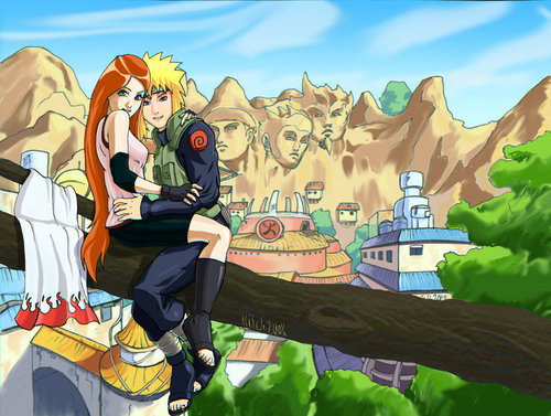 sienna miller wallpaper titled Kushina and Minato in Konoha
