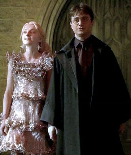 Luna Lovegood with Harry Potter