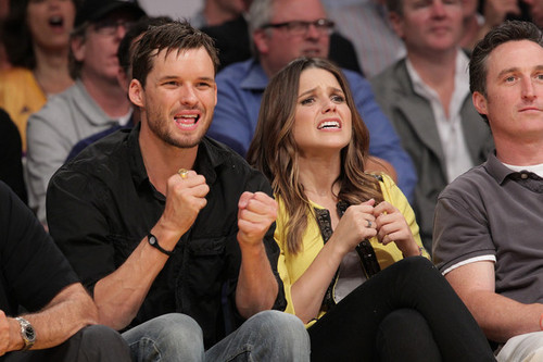 May 4th, Sophia and Austin at Lakers Game.