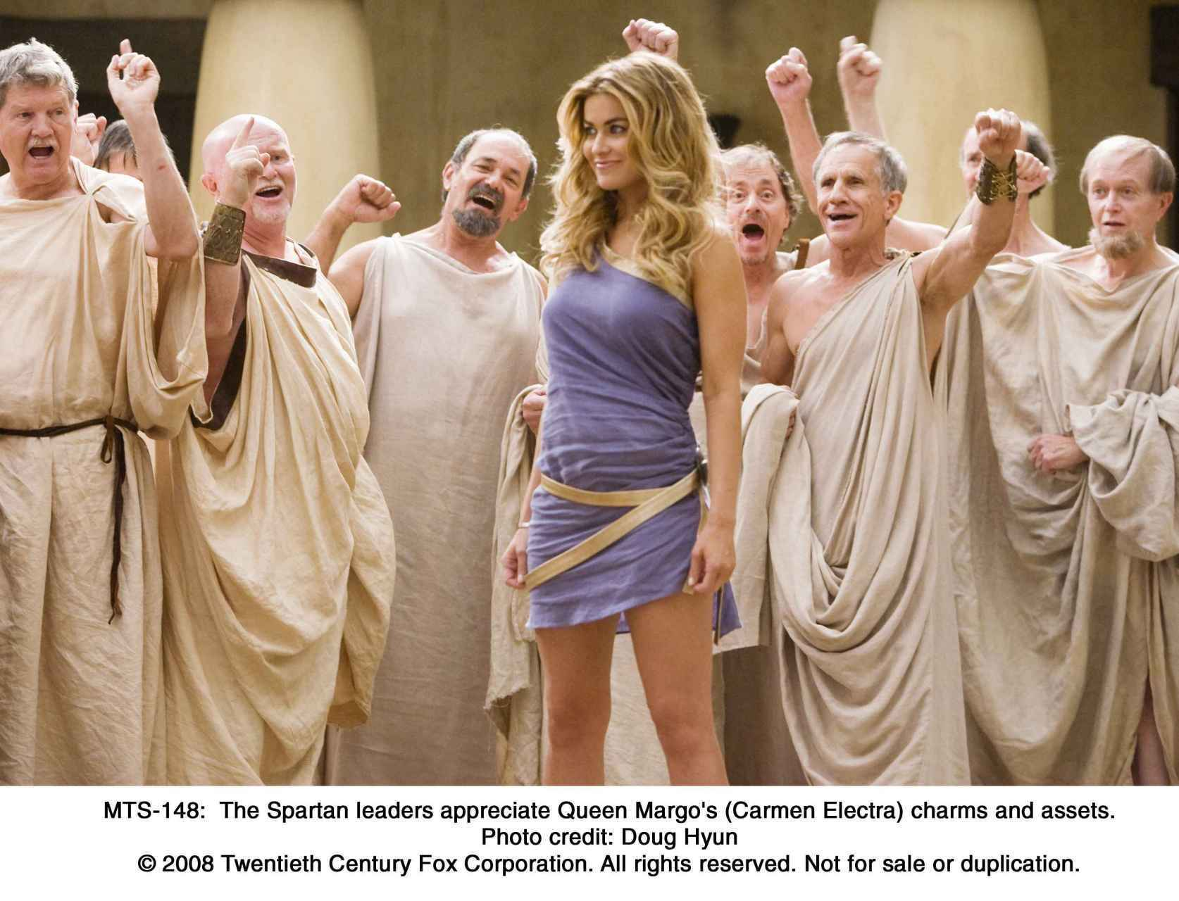 who plays the woman in meet spartans