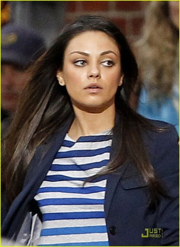 """Mila on set of """"Ted"""""""