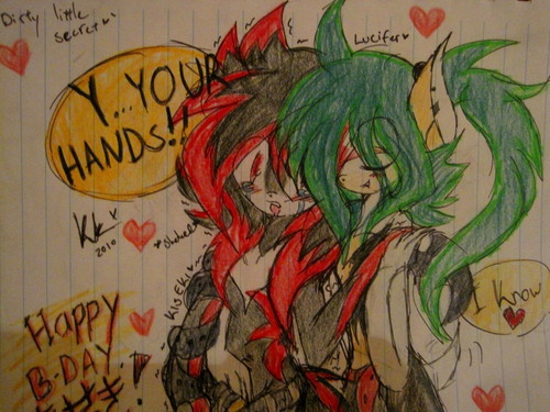 My relaly first ones yaoi sonic picture...(Maybe XD) ~ Kiseki x Lucifer