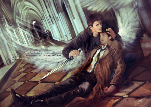 Castiel wallpaper possibly with a strada, via and Anime called Protecting Something so Holy