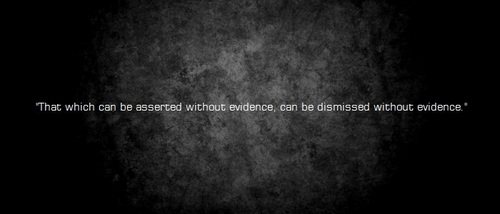 Without Evidence...