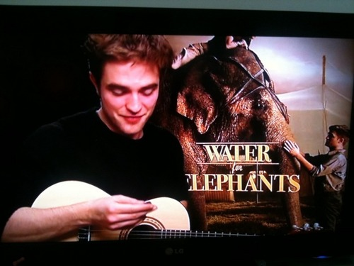 Rob playing a mini gitar :D