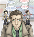 SPN: Dichotomy of Pie - dean-castiel-and-sam fan art