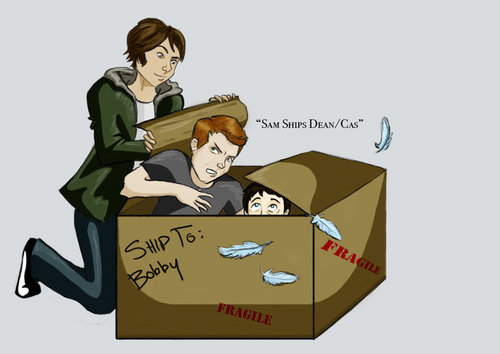 Sam 'ships Dean and Cas