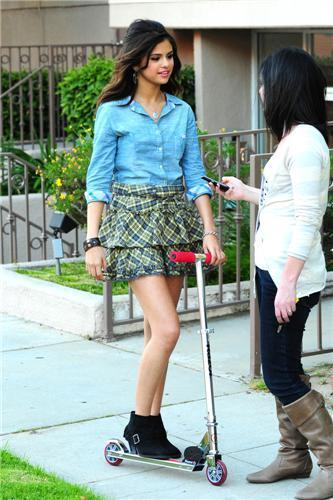 Selena - April 30 - During A Break While Filming a Kmart commercial - 2011
