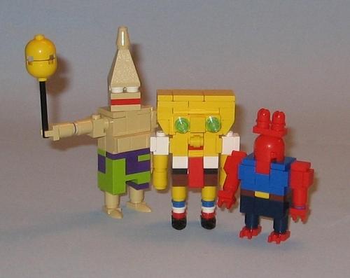Spongebob Patrick Mr krabs In Lego