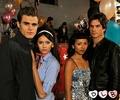 Stefan, Elena, Bonnie, Damon