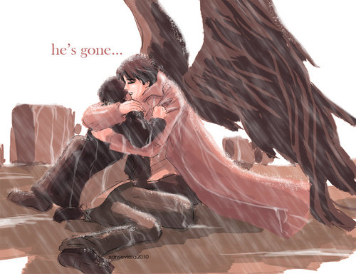 Supernatural+hush.. - dean-and-castiel Fan Art