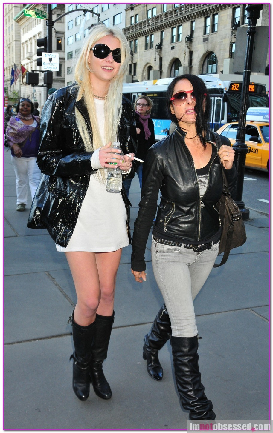 Taylor Momsen, 17, of The Pretty Reckless crossing the rua in NYC