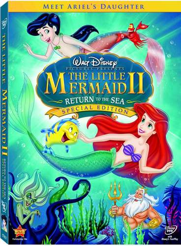 Walt Disney Characters wallpaper containing anime called The Little Mermaid II - Return to the Sea DVD Cover