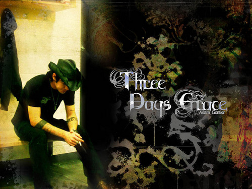 Three Days Grace wallpaper probably containing a sign and a pick entitled Three Days Grace