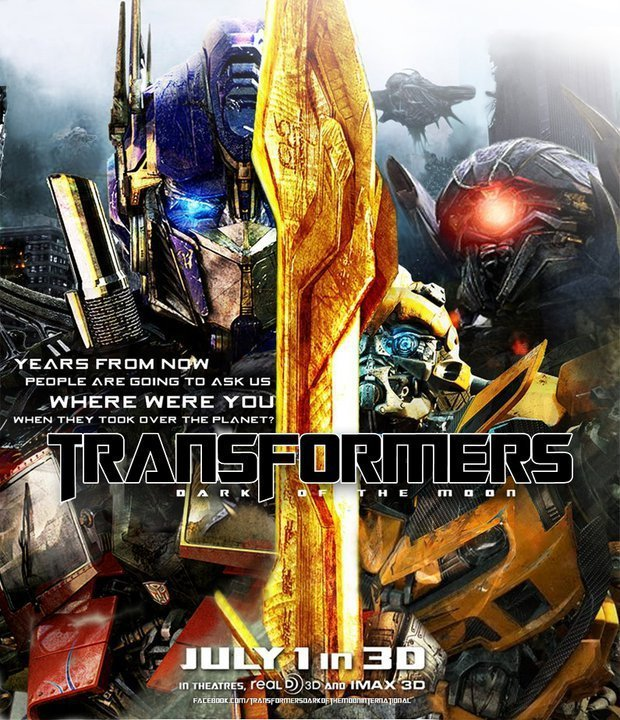 Transformers: Dark of the Moon Twitter poster :)