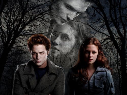 Twilight Movie wallpaper containing a chainlink fence entitled Twilight Edward & Bella