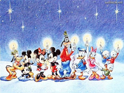 personaggi Disney wallpaper titled Walt Disney wallpaper - Merry Christmas!