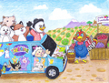 Webkinz Van visits Jumbleberry Fields