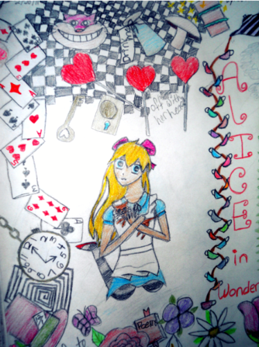 alice in wonderland; anime form