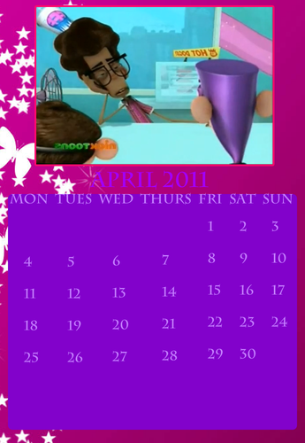 Fanboy and Chum Chum Club वॉलपेपर possibly with a sign called fbcc calendar april 2011
