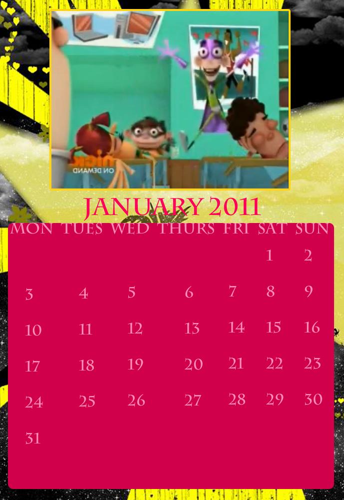 calendar january 2011. fbcc calendar jan 2011
