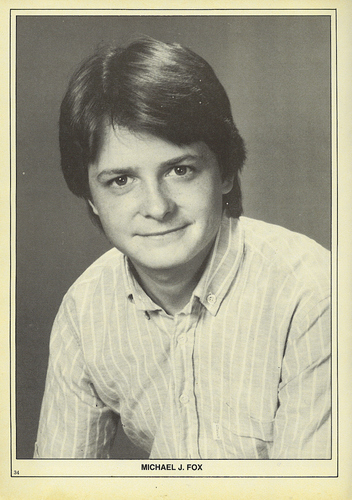 Michael J Fox wallpaper probably containing a portrait called michael j fox