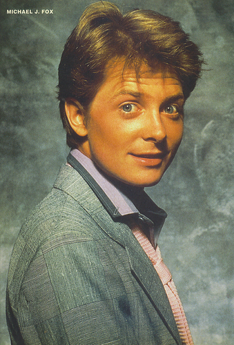 Michael J Fox wallpaper probably containing a business suit titled michael j fox