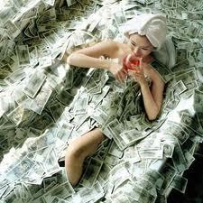 money bath lolz!