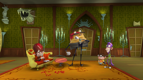 Fanboy and Chum Chum Club वॉलपेपर containing a living room entitled professor flan,fanboy,chum chum and kyle