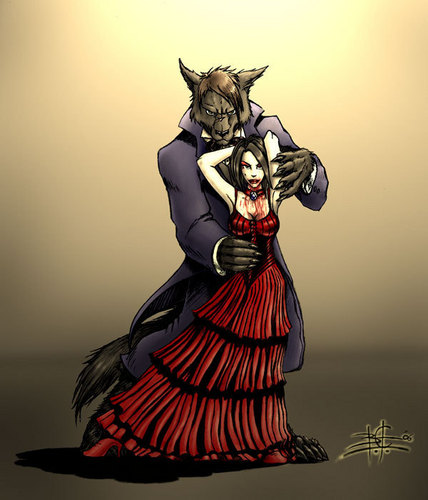 vampire and werewolve in cinta