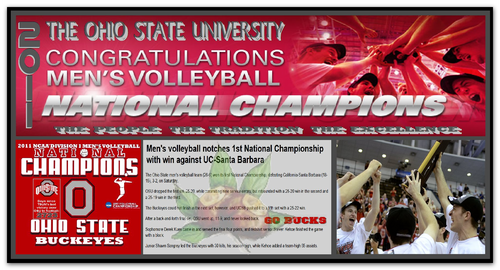 Ohio State Buckeyes fondo de pantalla entitled 2011 MEN'S voleibol NCAA NATIONAL CHAMPIONS