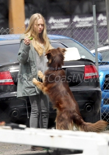 Amanda Seyfried On Set in Portland