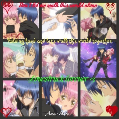 Shugo Chara wallpaper containing a stained glass window called Amu and Ikuto <3 Lovestruck forever <3