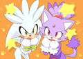 Blaze and Silver_Nyan - silvaze fan art