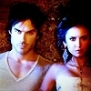 Delena & Forwood photo containing a portrait titled Damon & Elena <3