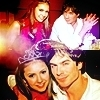 Delena & Forwood photo possibly with anime and a portrait called Damon & Elena <3