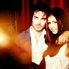 Delena & Forwood photo possibly containing a fire and a portrait titled Damon & Elena <3