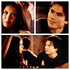 Delena & Forwood 写真 probably with a portrait and アニメ entitled Damon & Elena <3