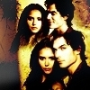 Delena & Forwood photo containing anime called Damon & Elena <3
