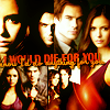 Delena & Forwood photo probably containing anime and a portrait called Damon & Elena <3