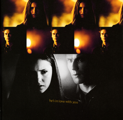 Delena & Steferine wallpaper probably containing a sign titled Damon & Elena <3