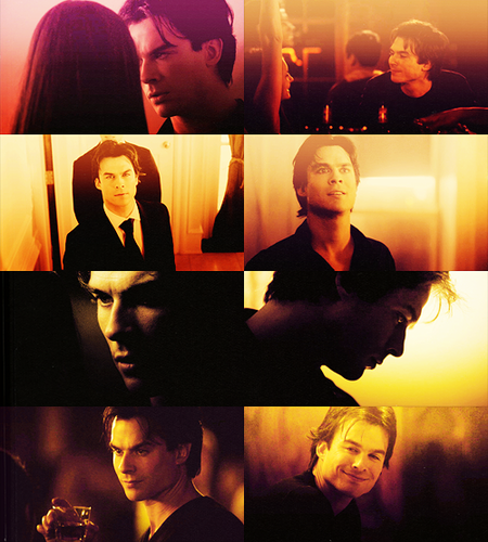 Delena & Steferine wallpaper probably containing a business suit called Damon & Elena <3