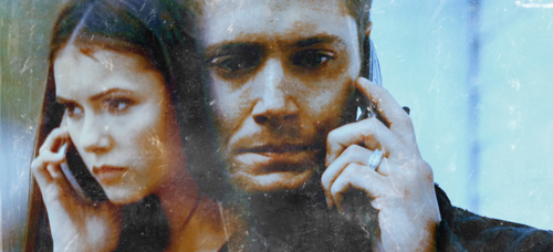 Elena Gilbert wallpaper containing a fountain called Dean Winchester x Elena Gilbert <33