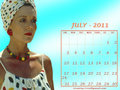 Diana - July 2011 (calendar)  - diana-rigg wallpaper