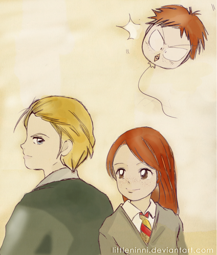 Draco and Ginny hình nền probably with anime called Draco and Ginny