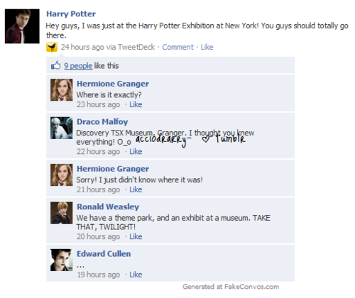 HP Facebook convos - harry-potter-vs-twilight Photo