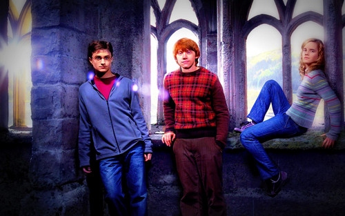 Harry, Hermione and Ron<3