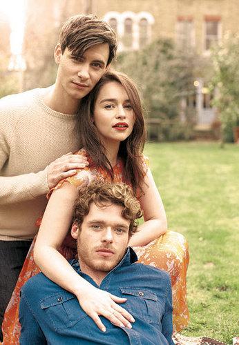 Harry Lloyd with Emilia Clarke and Richard Madden