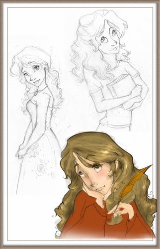 Hermione sketches